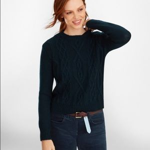 Brooks Brothers Wool Alpaca Cable Knit Sweater